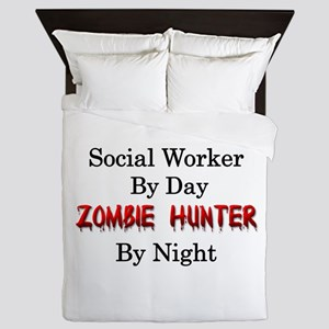 Social Worker/Zombie Hunter Queen Duvet